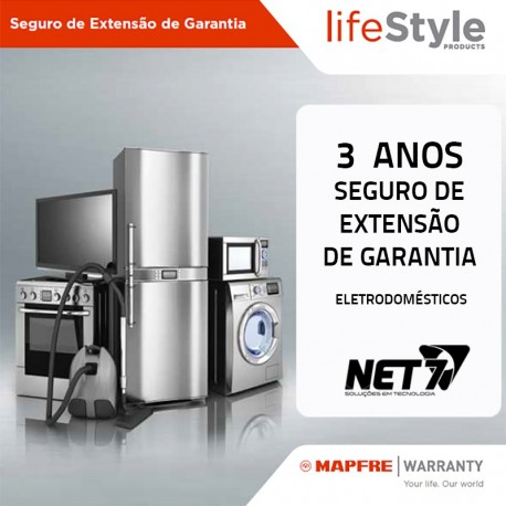 Seguro de Extensão de Garantia MAPFRE 3 Anos Electrodomésticos até 1500 Euros