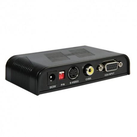Oem AV-CONVERTER Adaptador de Vídeo VGA a AV Entrada VGA com Saída Loop VGA - 8435325413952