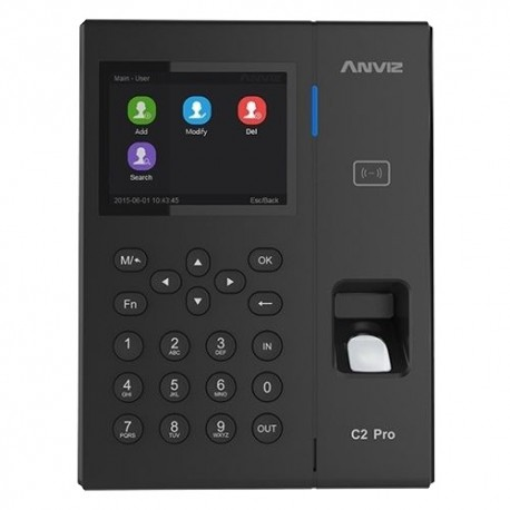 Anviz C2PRO-POE Controlo de Presença e Acesso PoE Impressões, EM RFID e teclado