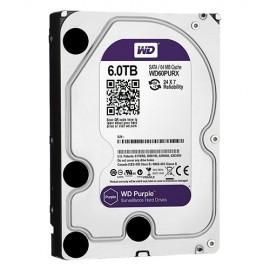 Western Digital WD60PURX, 6 TB, 5400 RPM, 64 MB, SATA 6 Gb/s, Purple