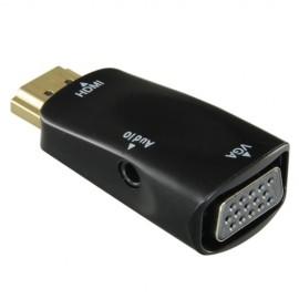 Oem HDMI-VGA Adaptador de HDMI a VGA+Audio Passivo, não necessita alimentação