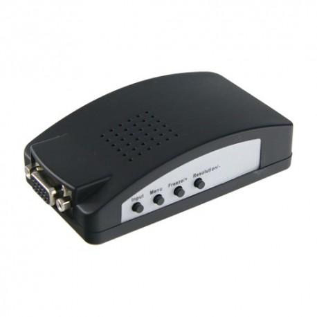 Oem VGA-CONVERTER Adaptador de Vídeo Entradas VGA SVIDEO ou Vídeo BNC Saída VGA