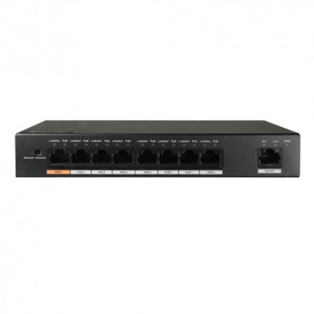 X-Security XS-SW0809-96-HIPOE Switch PoE 8 Portas PoE + 1 Porta Uplink - 8435325427850