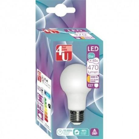 LAMPADA 4U LED STD-6W-E27 -400455 - 8430624404557