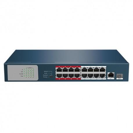 Safire SF-SW1816POE-135 Switch de Mesa PoE 16 Portas PoE + 2 Gigabit Combo Port - 8435325433462
