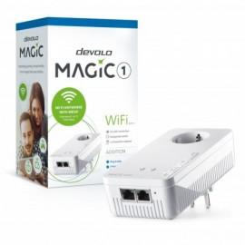 Devolo Magic 1 Wi-Fi Adaptador Adicional Velocidade Powerline até 1200Mbps com 2 Portas LAN - PT8358 - 4250059683587