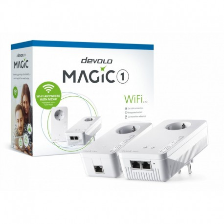 Devolo Magic 1 Wi-Fi Starter Kit Velocidade Powerline até 1200Mbps com 2 Portas LAN - PT8366 - 4250059683662