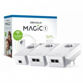 Devolo Magic 1 Wi-Fi Multiroom Kit Velocidade Powerline até 1200Mbps com 2 Portas LAN - PT8374 - 4250059683747