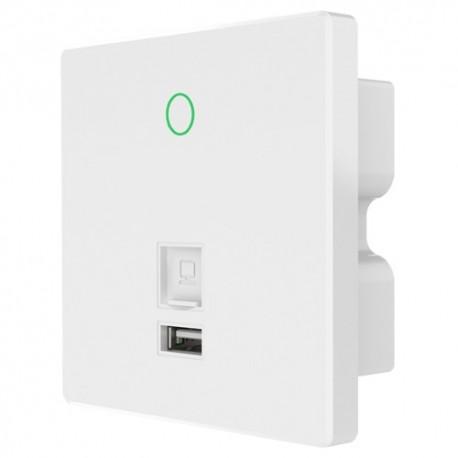 Oem WIFI4-AP300-INWALL-N Ponto de Acesso Wi-Fi 4 até 300 Mbps LAN WAN USB para Caixa de Mecanismo - 8435325446493