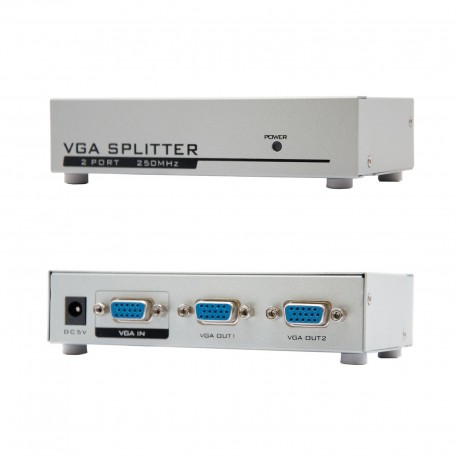 Oem VGA-SPLITTER-2 Multiplicador de Sinal VGA 1 Entrada VGA 2 Saídas VGA - 8433281004542