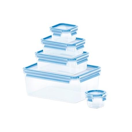 Caixa Hermética Plástico Tefal 3,7l+1l+0,55l+0,25l+0,15l - K3029012 - 4168430001243