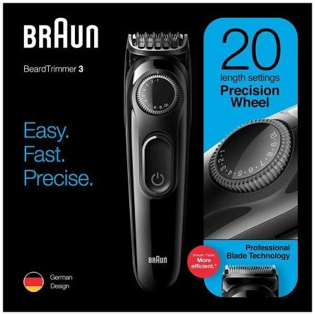 BRAUN - Máquina de Cortar Cabelo/Barba S3 BT3222 - 4210201282174