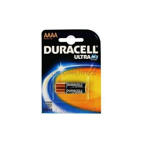 DURACELL - Pilhas Alcalinas 1,5V LR61 / AAAA Bl2 - 5000394041660