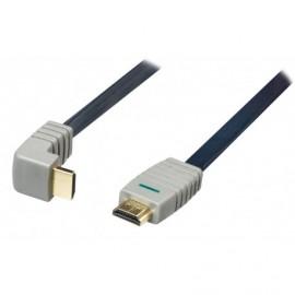 BANDRIDGE - Cabo HDMI 5m flat ficha 90º BVL1335 - 8717587030758