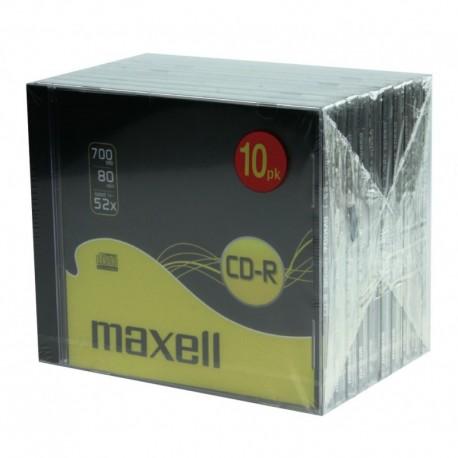 MAXELL - PACK 10 CD-R 80 52X 700MB - 624826.40.CN - 4902580449674