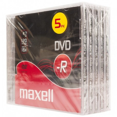 MAXELL - DVD-R 16X 4,7GB P.5 J.CASE-275517.40.CN - 4902580502782