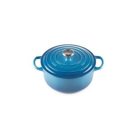 LE CREUSET - Cocotte Redonda 22cm Azul Marseille - 0024147260691