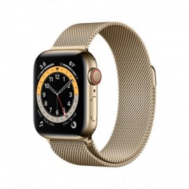 Apple Watch Series 6 GPS + Cellular. 40mm Gold Stainless Steel Case With Gold Milanese Loop - 0190199836365