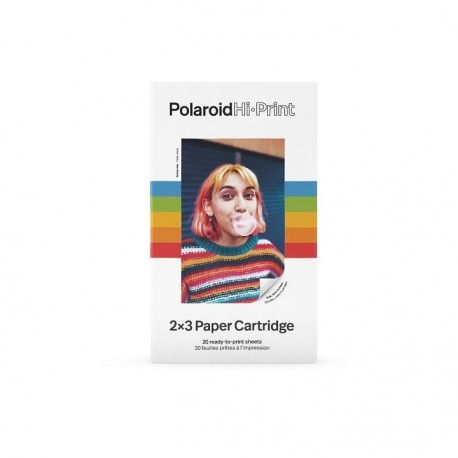 POLAROID Hi-Print 2×3 Paper Cartridge - 20 Sheets - 9120096771842