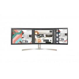 Monitor LG 49P 32 9 UltraWide Dual QHD. HDMI DP USB TypeC Colunas Tilt Ajust.Altura Branco cinza - 8806091221599