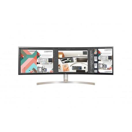 Monitor LG 49P 32:9 UltraWide Dual QHD. HDMI/DP/USB TypeC/Colunas/Tilt/Ajust.Altura Branco/cinza - 8806091221599