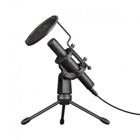 Microfone TRUST USB Com Tripe E Filtro Pop Para Fazer Transmissoes E Gravaçoes De Som - 8713439241822