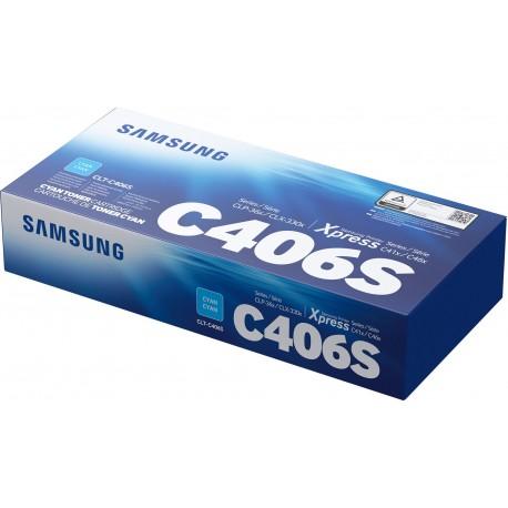 HP - Samsung Toner CLT-C406S Cyan ST984A - 0191628445493
