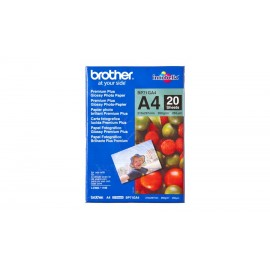 Papel BROTHER Fotografico Glossy 20 Uni A4 260g m2 - 4977766658416