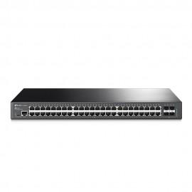Switch TP-Link Gerenciado JetStream 48 Portas Gigabit L2 Com 4 Slots SFP