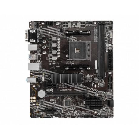 MB MSI A520M PRO SKT AMD AM4 2xDDR4 VGA/HDMI/DP MATX - 4719072755492