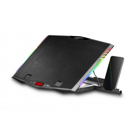 """Base MARS GAMING MNBC5 ARGB NOTEBOOK COOLER & STAND. 6x FAN. PHONE HOLDER. 17.3"""" SIZE - 4710562757699"""