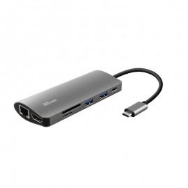 Adaptador TRUST USB-C Multiportas 7 Em 1 Em Aluminio - 8713439237757