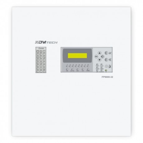 Dmtech DMT-FP9000-16-PT Central convencional de 16 areas com ecra LCD 2 Saida da Sirene - 8435325454542