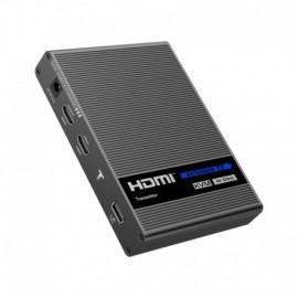 Oem HDMI-EXT-4K-KVM Extensor HDMI/USB por Cabo Ethernet CAT6 Emissor e Receptor 70 m até 4K Áudio S/PDIF