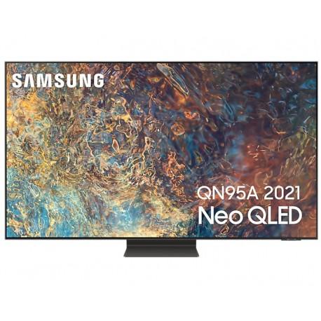 """TV QLED Samsung Series 8 55QN95A 139,7 cm 55"""" 4K Ultra HD Smart TV Wi-Fi Prateado - QE55QN95AATXXC - 8806092017337"""
