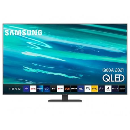 """TV QLED Samsung Series 6 QE65Q80AATXXC 165,1 cm 65"""" 4K Ultra HD Smart TV Wi-Fi Prateado - 8806092017993"""