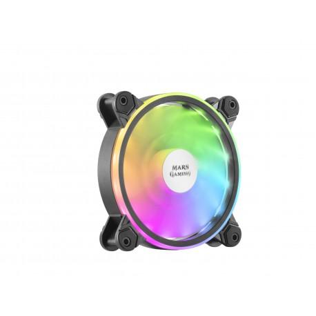 Mars Gaming MFX Ventoinha para PC Caixa de Computador Cooler 12 cm Fan Dual ARGB Preto - 4710562758757