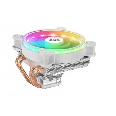 Mars Gaming MCPU220 Ventoinha para Processador Cooler 12 cm 900-2200 RPM ARGB PWM Fan 4x Heatpipe Branco - 4710562758825