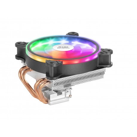 Mars Gaming MCPU220 Ventoinha para Processador Cooler 12 cm 900-2200 RPM ARGB PWM Fan 4x Heatpipe Preto - 4710562758818