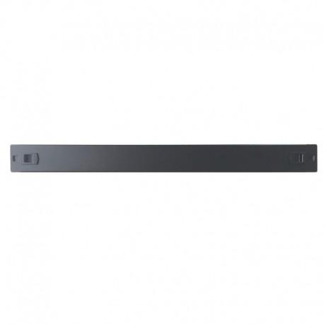WP RACK Screw Less Blank Panel 1U Black RAL 9005 - 8056045871367