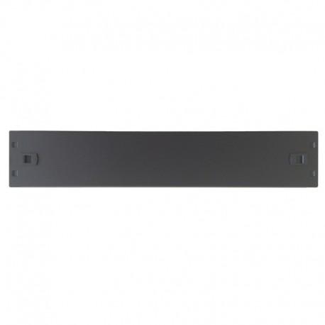 WP RACK Screw Less Blank Panel 2U Black RAL 9005 - 8056045871374