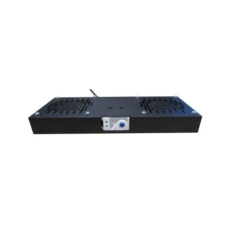 WP RACK Fan Tray for RWA 450 Depth Cabinets with 2 Fans and Thermostat Black Ral 9005 - 8032958189799
