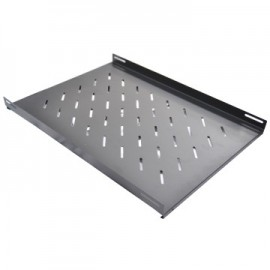 WP RACK Fixed Shelf for RSB Series Depth 1000 mm Black RAL 9005 Depth 650 mm - 8032958189751