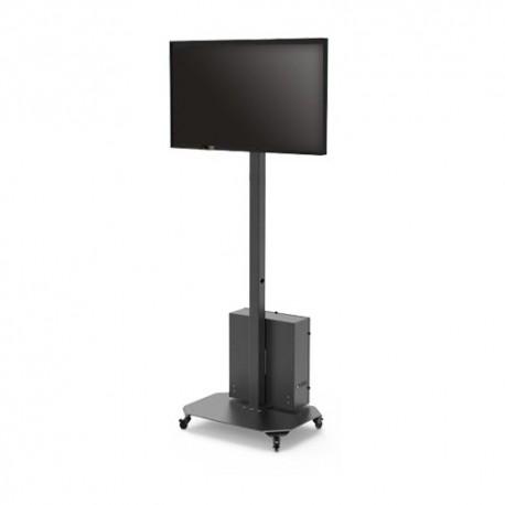 """LCD2342-F Suporte Móvel para Monitor LCD Instalação em Pedestal até 25 Kg de 23"""" a 42"""" com Caixa de Armazenamento"""