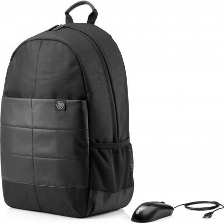 "HP Mochila Classic Backpack de 39,62 cm (15.6 "") à Prova de Água Preto - 0190781262923"