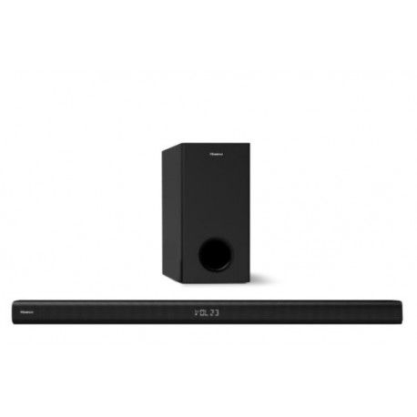HISENSE HS218 SoundBar 2.1, 200 W, Dolby Digital, Com Subwoofer, Com Fios, Preto - 6942147454558