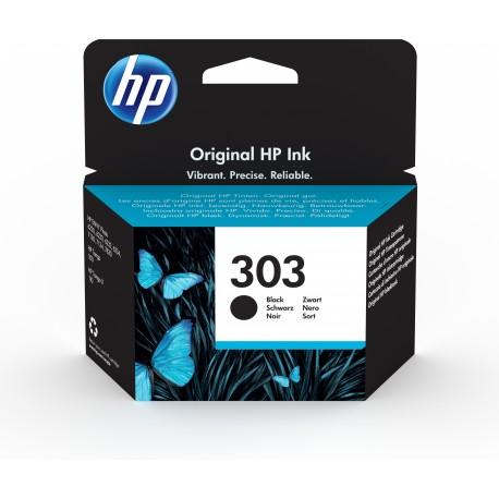 HP 303 Black Original Ink Cartridge Tinteiro Rendimento Padrão Preto - Envy Photo 6230/7130/7830 - 0190780571033
