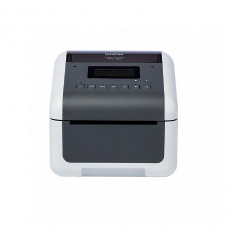 Brother TD-4550DNWB Impressora de Etiquetas Acionamento Térmico Direto 300 x 300 DPI Com fios e sem fios, USB, RJ45, Wi-Fi, BT, Cinzento, Branco - 4977766798273