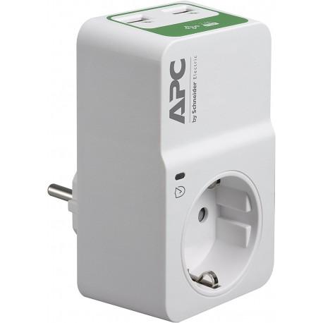 APC Essential SurgeArrest 1 Outlet 230 V 2 Port USB Charger - 0731304334750
