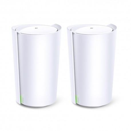 TP-LINK Deco X90 (2-pack) Router Tri-band (2,4 GHz / 5 GHz / 5 GHz) Wi-Fi 6 (802.11ax) Branco Interno - 6935364052621